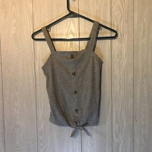 NWOT Tucker + Tate Button Tie Front Tank Top L